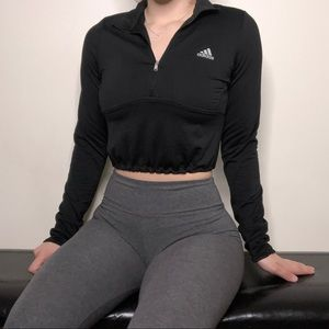 Adidas Cropped Quarter Zip
